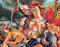 Eugène Delacroix Master Study- Lion Hunt