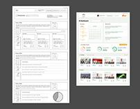 UI/UX design for educational portal applicaiton