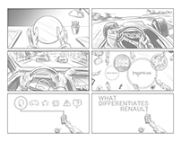 Storyboards for Interbrand Van Adverts.