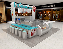 05/02017 Ice Cream Stand Design and Vray 3D Model