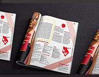 Redesign revista - página dupla | Magazine redesign