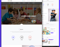 Kids Life 2 Web Template