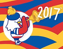 法国大公鸡乐乐2017贺年微信表情