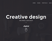 ZER0 - HTML5 Digital Creative Agency WordPress Theme