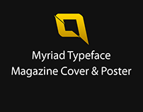 Myriad Typeface Magazine Cover & Poster
