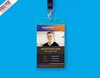 Free Creative Identity Card Design Template PSD