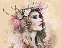 Girl in watercolor