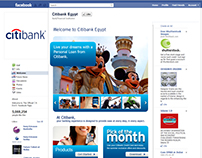 Citibank Egypt facebook landing page