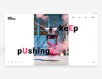 Keep pushing - Web design