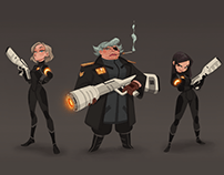 Space Command - Character Design
