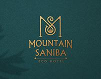 Logo and branding for eco hotel Mountain Saniba