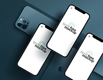Pacific Blue iPhone 12 Pro Max Mockup 7