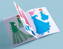 Cut-out paper doll books