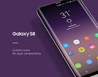 Galaxy S8 icon Design