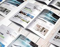 A4 Brochure Magazine Mockup 10
