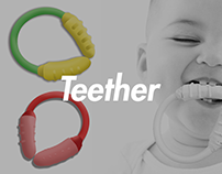 The Nibbler - Teether / Rattle for toddlers!