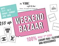 Vibe Weekend Bazaar Poster Design