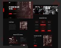 Gym Website Landing Page