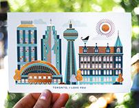 I love you! je t'aime! postcards
