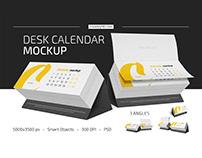 Desk Calendar v04 Mockup Set
