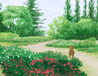 A bear in the park