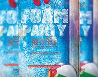 Foam Night Party Flyer - Club A5 Template