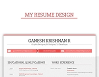 My Resume- Ps and Ai work