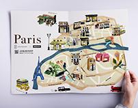 插畫設計|10/10 Apothecary's Paris map