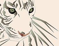 Tiger's Tranquility | Digital Art
