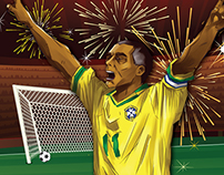 Romario's 1000 Goals - Infographic