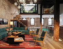 Tribeca Loft, Photo based 3D visualization