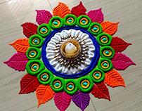 Rangoli Design Floral For Festivals