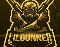 Lilgunner Gaming Mascot Logo Design