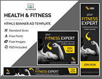 Fitness Expert Banner- HTML5 Ad Templates
