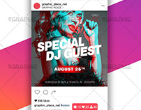 Special Dj Guest – Animated Flyer PSD Template