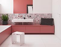 Bathroom with patchwork #keros
