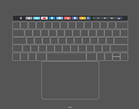 Macbook Pro Touch Bar UI Kit Free Download