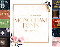 Best Monogram Fonts Collection