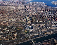 Aerial view of the southern Bronx