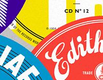 Edith Piaf - Label design