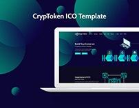 CrypToken- ICO Crypto Currency PSD Landing Template