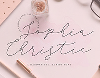 SOPHIA CHRISTIE - 100% FREE SCRIPT FONT