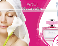 Brochure of cosmetics brand