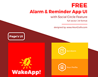 FREEBIES - WakeApp! Reminder App UI