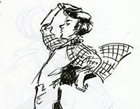 Gesture, Lighting & Attitude (Sketches)