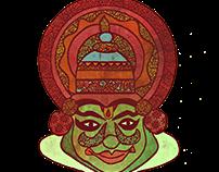 Kathakali Zenscrawl T-shirts