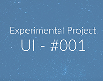 Experimental Project - UI #001