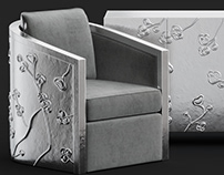 Bernhardt Sasha Chair / 3d model