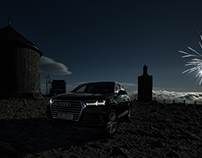 Audi Q7 on highest czech mountain Sněžka