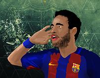Neymar Vector Art